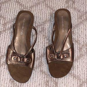 Bandolino bronze wedge sandal